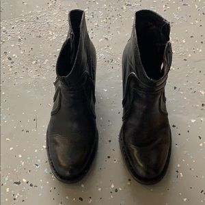Born Shoes Anny Boots Black Leather